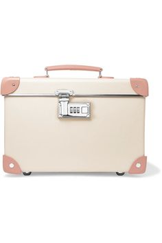 Cream fiberboard, antique-rose leather (Cow) Combination lock fastening Designer color: Desert Rose/ Ivory Weighs approximately 5.6lbs/ 2.6kg Made in England