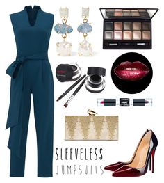 """Untitled #360"" by heavenlystar ❤ liked on Polyvore featuring TIBI, Christian Louboutin, Melissa Joy Manning, KOTUR, By Terry, Wet n Wild and sleevelessjumpsuits"