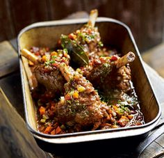 These slow-cooked lamb shank recipes are full of flavour and fall-off-the-bone tender. We're serving up everything from beer-braised to curried lamb shanks. Lamb Recipes, Slow Cooker Recipes, Meat Recipes, Indian Food Recipes, Cooking Recipes, Healthy Recipes, Recipies, Healthy Lunches, Slow Cooking