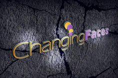 changing faces logo design