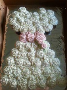 Wedding Dress Cupcake Cake~ Cupcakes by Debbie