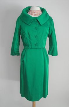 1950's Lili Ann Dress with Matching Jacket. I remember wearing blouses and dresses with this type collar.