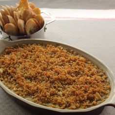 Gratineed Crabmeat With Sauce Mornay -- a rich, decadent dish, perfect for a crowd.