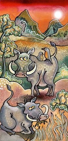 Bad hair (hog) Day! English Artists, Bad Hair, My Animal, Animal Paintings, Welsh, Fun, Animals, Animales, Welsh Language