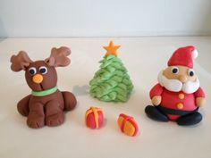 Sugar paste Christmas figures and tree