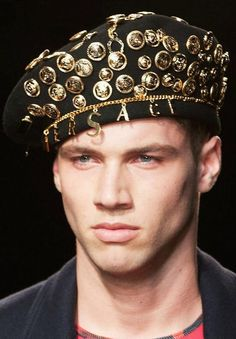Standard issue beret for the Versace anti-fashion military