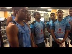The Amazing Fiji Rugby 7s Team at City Athletic, London. - YouTube