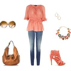 Just Peachy, created by archimedes16.polyvore.com