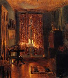 The Artist's Room in Ritterstrasse (Adolph von Menzel - 1851)        TumbleOn)