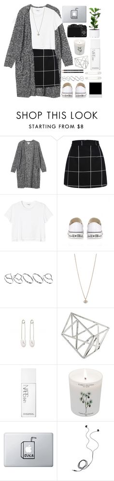 """Dunks"" by hejehejhejehejje ❤ liked on Polyvore featuring Monki, Converse, ASOS, Minor Obsessions, Kristin Cavallari, Topshop, NARS Cosmetics, Carriere, CO and Diane Von Furstenberg"