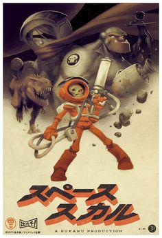 Image of Spaceskull: Japanese Print