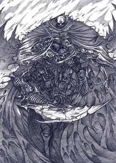 Gravelord Nito,Dark Souls,games,Osmar-Shotgun,art,beautiful pictures