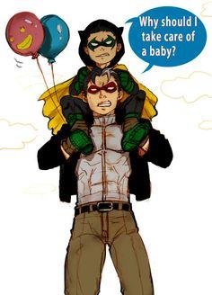 Damian Wayne Robin and Jason Todd Redhood Xx