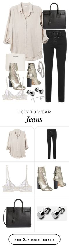 """""""Untitled #20095"""" by florencia95 on Polyvore featuring rag & bone, Yves Saint Laurent, Isabel Marant, Acne Studios, La Perla and Humble Chic"""