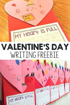 Valentine's Day is right around the corner, and this writing freebie is the perfect way to incorporate the fun holiday into your teaching plans! Students will be able to share, through both pictures… 1st Grade Writing, Kindergarten Writing, Literacy, Valentine Words, Valentine Day Crafts, Kids Valentines, Classroom Crafts, Classroom Ideas, Classroom Rules