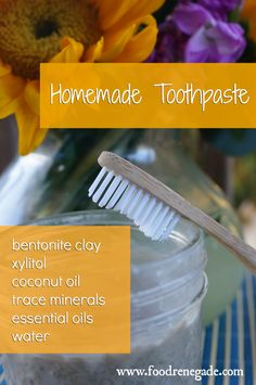 Homemade Toothpaste Recipe -- perfect for remineralizing teeth! www.foodrenegade.com