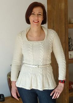 Susan has knitted a beautiful Esme Jumper in ivory alpaca yarn! Designer Knitting Patterns, Jumper Knitting Pattern, How To Wear, Gallery, Beautiful, Beauty, Jumpers, Tops, Ivory