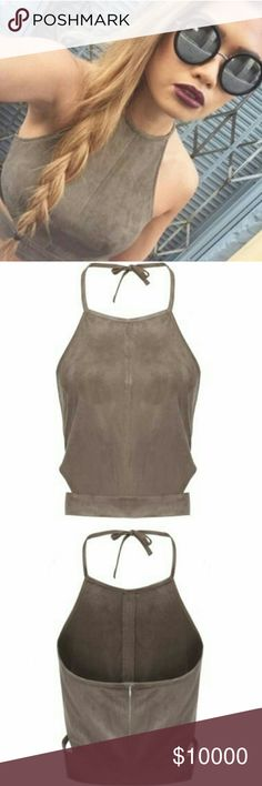 Tan Crop Top Amazing crop top. Great piece for summer and festival season! (Brand only for exposure) American Rag Tops Crop Tops