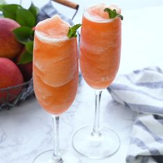 Peach Bellini recipe is made with real peaches and peach schnapps and bubbly Prosecco. Making this a perfect cocktail for any occasion. No need to wait for the peach season you can enjoy a Peach Bellini any time of the year with frozen peaches!  This easy brunch cocktail is made in no time at all. Your guest will savor the wonderful peach flavor in this elegant brunch beverage.