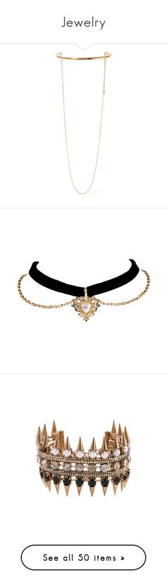 """Jewelry"" by kitkat12287 ❤ liked on Polyvore featuring jewelry, necklaces, accessories, chokers, colares, gold, stella mccartney necklace, layered choker necklace, choker jewellery and choker jewelry"