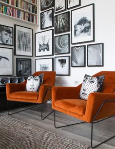 33 Amazing Grey White Black Living Room Decor Ideas And Remodel. If you are looking for Grey White Black Living Room Decor Ideas And Remodel, You come to the right place. Here are the Grey White Blac. Grey And Orange Living Room, Orange Rooms, Living Room Grey, Living Room Chairs, Orange And Grey Living Room Decor, Orange Walls, Orange Chairs, Orange Couch, Black And White Living Room Ideas