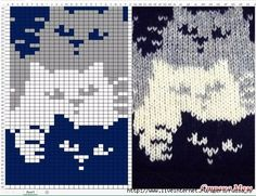 22 ideas crochet cat blanket cross stitch for 2019 Fair Isle Knitting Patterns, Knitting Charts, Knitting Stitches, Baby Knitting, Free Knitting, Vintage Knitting, Knitting Machine, Chat Crochet, Crochet Chart