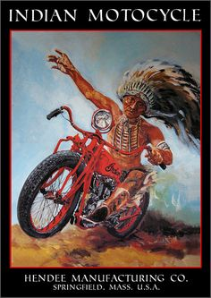 Indian Motorcycle - Give me the bike, hiw much?, no u pay i take this is the customer ppl agreement. I dont pay u do, new law! My bike! Motorcycle Posters, Motorcycle Art, Bike Art, Old Posters, Vintage Posters, Vintage Graphic, Indian Cycle, Motos Trial, Harley Davidson