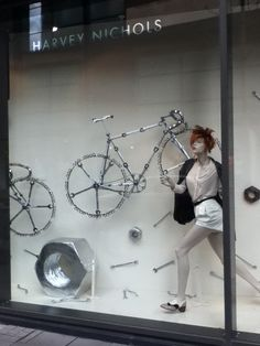 Awesome Bicycle themed window display - Harvey Nichols in Bristol.