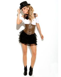 WOMEN'S SEXY RACY STEAMPUNK ROSE COSTUME  I think this is my halloween costume!!