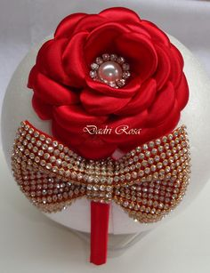 Tiaras De Luxo Vermelha | Dadri Rosa, tiaras e faixas | Elo7 Ribbon Art, Ribbon Crafts, Ribbon Bows, Hair Ribbons, Diy Hair Bows, Diy Headband, Baby Headbands, Barrettes, Hairbows