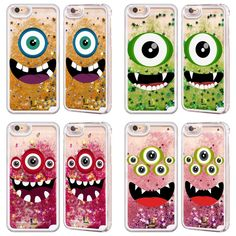 Head Case Jolly Monsters Red Liquid Glitter Case for Apple iPhone Samsung Phones | eBay