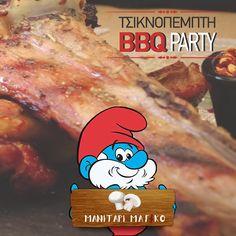 Την #Τσικνοπέμπτη δίνουμε το δικό μας ραντεβού μαζί με τα στρουμφάκια, για ένα ατελείωτο τσίκνισμα!  📍Προσφυγικής Αγοράς 32-34 Μπιτ Παζάρ ,#Θεσσαλονίκη ☎️ 2310.268886 ⏰Καθημερινά από τις 13.00  #manitari_magiko #mpit_mpazar #thessaloniki #tavern #food #τοστέκιμας #ΤσικνοΠέμπτη2020 Bbq Party, Facebook Sign Up