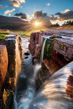 Double Falls, Montana, USA  (by Zack Clothier)