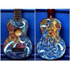 I painted a ukulele ☀️