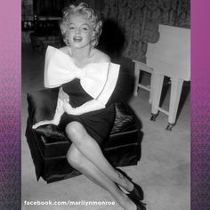 """Marilyn in a Moore """"sack"""" dress, later renamed the chemise, in 1957.  She was quoted as saying:  """"A sack allows you to move. And it moves with you. And well—movement is good."""""""