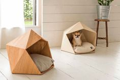 Kamakura Pet House - Your dog or cat deserves the finest and most comfortable place to rest, but perhaps you'd also like them to lounge about in a piece of pet furniture that classes up your room. Natural Slow's Kamakura Pet House offers a relaxing place for your furry friend, alongside a simple but elegant design that ...