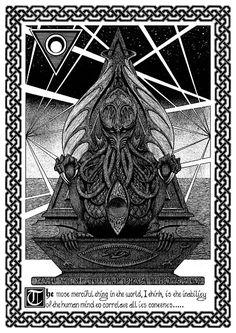 El estamento inicial de La Llamada de Cthulhu por John Coulthart