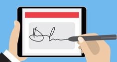 An electronic signature, colloquially referred to as an e-signature, denotes any electronic means that indicates that a person has accepted the contents of any electronic message, or is making a confirmation that he/she is the person who has written that message. It is an electronic equivalent of any regular seal or signature. Advantages •Send easily, just like an email. •Sign in a snap. •Track and manage progress. •Use with Microsoft Office. Online Signature, Digital Signature, Digital Technology, New Technology, Information Technology News, Software Sales, Banking Industry, Hama, Tecnologia