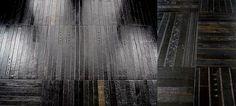 Vintage Leather Belt Floor Tiles by Ting London - Floors: Carpet, Tile _ Hardwood Flooring Ideas - FURFIN Steampunk House, Steampunk Design, Herringbone Wood Floor, Recycled Leather, London, Leather Belts, Vintage Leather, Architecture Details, Textures Patterns