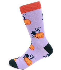 Orange Women/'s New HALLOWEEN Novelty Socks WITH GHOST /& HEADSTONES