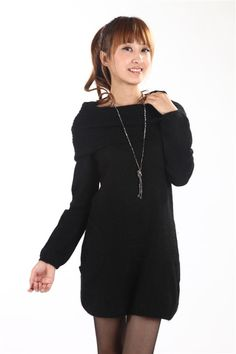 Elegant Multi-use Ring Collar Dress Black
