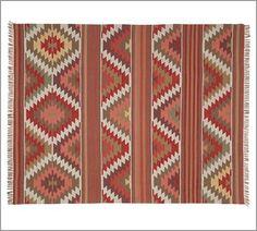 Farah Diamond Recycled Yarn Indoor/Outdoor Rug | Pottery Barn