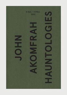 John Akomfrah 'Hauntologies' book, Carroll / Fletcher, 2012 Typeface: Aperçu