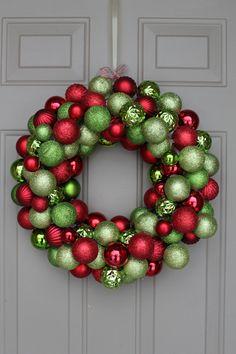 #DIY Ornament Wreath