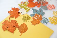 DIY Fall Leaf Garland Decoration
