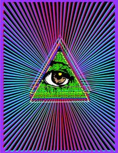 The all-seeing eye Art Optical, Optical Illusions, Bad Trip, All Seeing Eye, Canvas Prints, Art Prints, Eye Art, Psychedelic Art, Third Eye