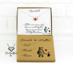 if there ever comes a day gift best friends winnie the pooh gift personalized friendship best friends forever friendship gift long distnace by GlowYourMindJewelry on Etsy