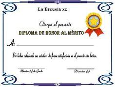Diplomas de honor al mérito | A mi manera Attendance Certificate, Passport Online, Certificate Templates, How To Get, How To Plan, Ielts, Clip Art, Words, San Pablo