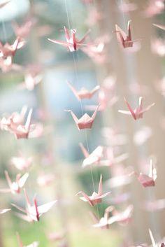 Pozytywne Inspiracje Ślubne: Motyw przewodni - żurawie origami