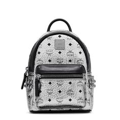 MCM X-Mini Stark Side Studded Backpack In Silver